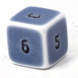 W6  porzelan blau / schwarz