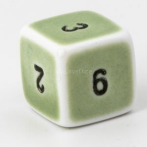 D6  Porcelain green  / black