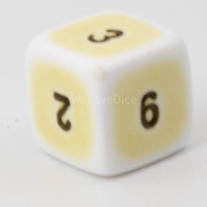 W6  porzelan gelb / schwarz
