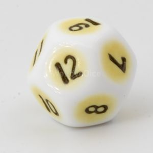D12 porcelain yellow / black