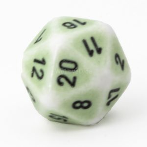 D20 Porcelain green  / black