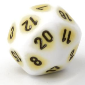 D20 porcelain yellow / black