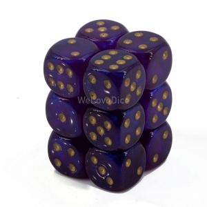 Borealis™ Royal Purple w/gold 16mm W6 12Stk