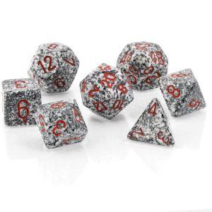 Speckled Granite™ Polyhedrische Würfel 7er Set