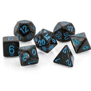 Speckled Blue Stars™ Polyhedrische Würfel 7er Set