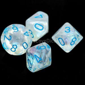 Chessex Borealis Icicle / light blue Set mit 10 W10 Würfeln (10 Stk)