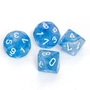 Chessex Borealis Sky Blue / white Set mit 10 W10 Würfeln (10 Stk)