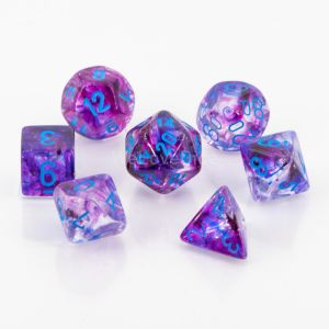 Nebula Polyhedral Nocturnal/blue Luminary 7-Die Set