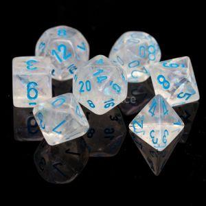 Chessex Borealis Icicle / light blue Poly Würfel Set (7 Stk)