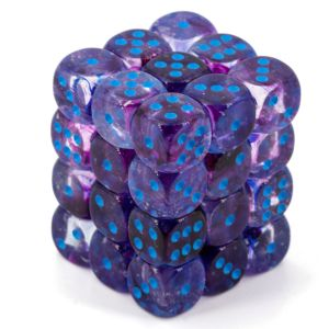 Nebula 12mm d6 Nocturnal/blue Luminary Dice Block (36 dice)