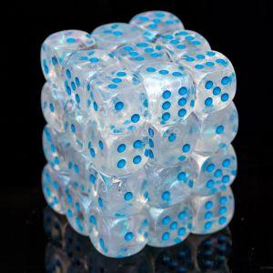 Chessex Borealis Icicle / light blue 12mm W6 Würfel Block (36 Stk)