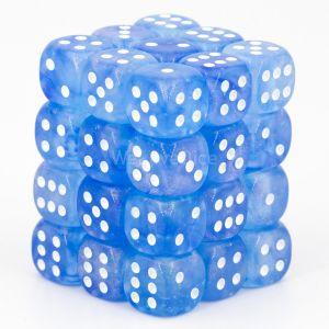 Chessex Borealis Sky Blue / white 12mm W6 Würfel Block (36 Stk)