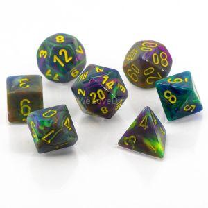 Festive™ Rio w/yellow Polyhedrische Würfel 7er Set