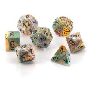 Festive™ Vibrant w/brown Polyhedrische Würfel 7er Set