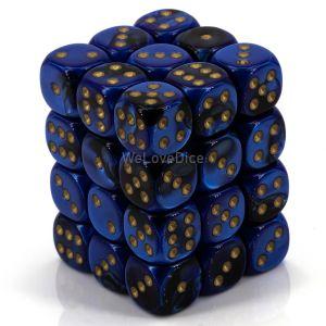 Gemini™ Black-blue w/gold 12mm W6 36 Stk