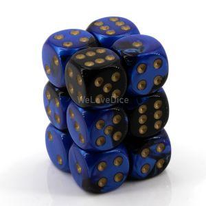 Gemini™ Black-blue w/gold 16mm W6 12Stk