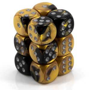 Gemini™ Black-Gold w/silver 16mm W6 12Stk