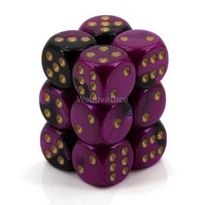 Gemini™ Black-Purple w/gold 16mm W6 12Stk