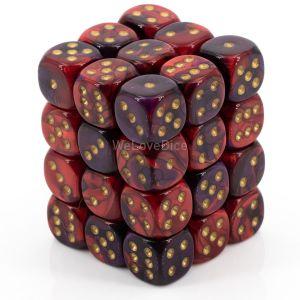 Gemini™ Purple-Red w/gold 12mm W6 36 Stk