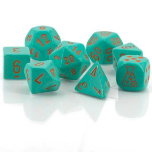 Heavy™ Dice Polyhedral Turquoise/orange