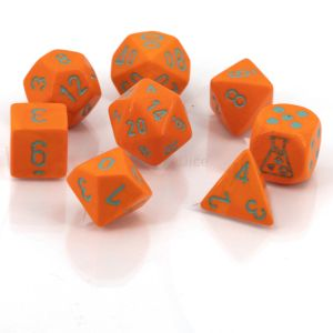 Heavy Dice Polyhedral Orange/turquoise 8-Würfel Set
