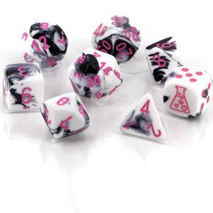 Gemini® Polyhedral Black-White/pink -Die Set