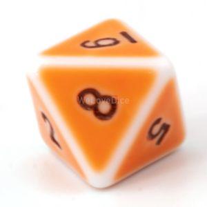W8 porzelan orange / schwarz