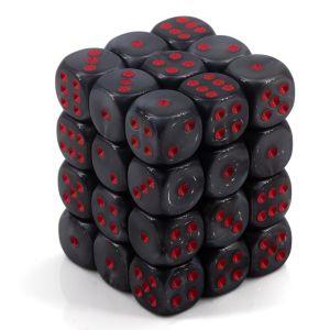 Velvet™ Black w/red 12mm W6 36 Stk