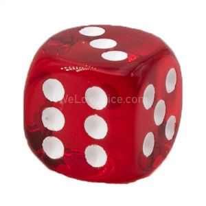 22mm D6 red translucent / white