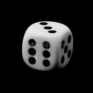 16mm W6 weiß / schwarz