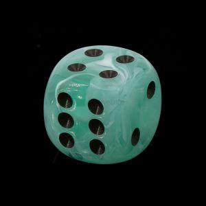 16mm W6  rauchiges jade / schwarz