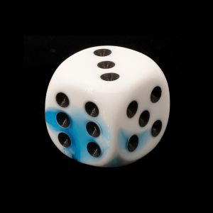 16mm W6  weiß blau / schwarz