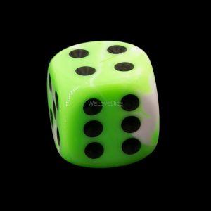 16mm W6  neon grün /schwarz