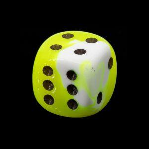 16mm W6  neon gelb / schwarz