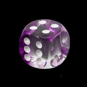 16mm W6  kristall lila / weiß