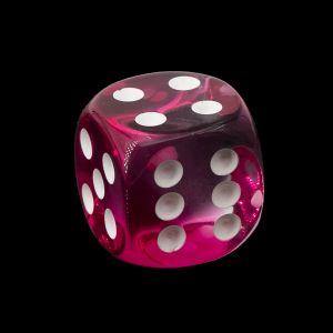 16mm W6  kristall pink / weiß