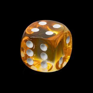 16mm W6  kristall orange  / weiß