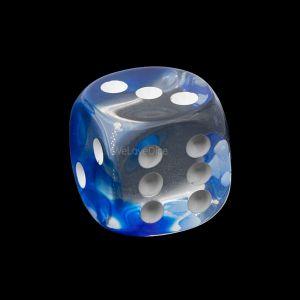 16mm W6  kristall blau  / weiß