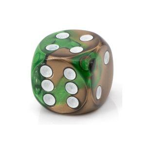 16mm W6  bleichgod grün / weiß